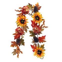 Artificial Sunflowers Autumn Garland 150cm - AUT012