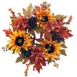 Artificial Sunflowers Autumn Wreath 50cm - AUT011