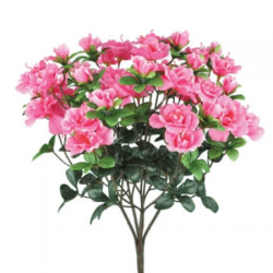 Artificial Azalea Plants Bright Pink - A152 D2