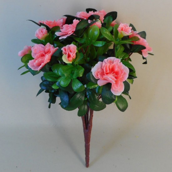 Artificial Azalea Plants Coral Pink - A154 C2