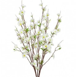 Artificial Apple Blossom Bush Ivory - B041 B3