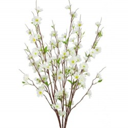 Artificial Apple Blossom Bush Ivory - B041 B3