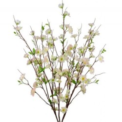 Artificial Apple Blossom Bush Pale Pink - B042 B3