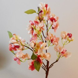 Artificial Cherry Blossom Branch Pink and Peach Flowers - B053 B3