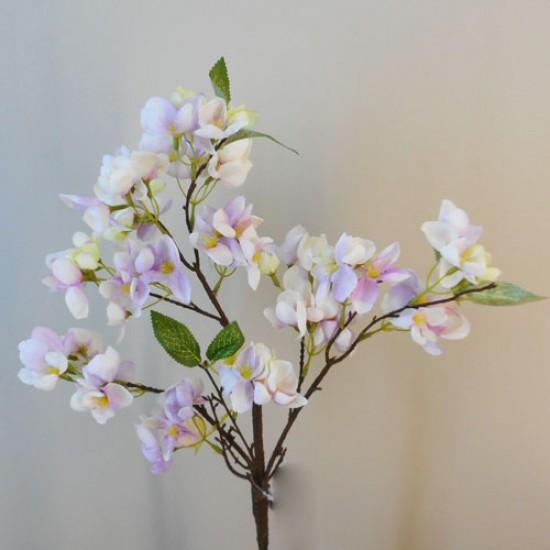Artificial Cherry Blossom Branch Lavender Purple Flowers - B061