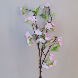 Artificial Cherry Blossom Branch Pale Pink Short Stem - B037 D3