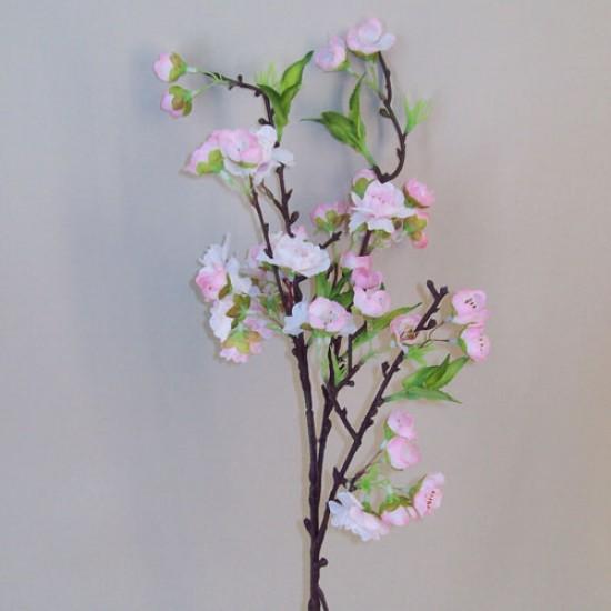Artificial Cherry Blossom Branch Pale Pink Short Stem - B037 D3