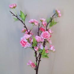 Artificial Cherry Blossom Branch Pink Short Stem - B036 D3