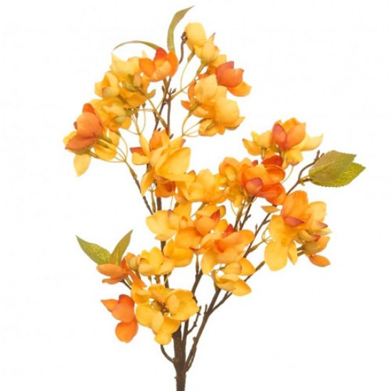 Artificial Cherry Blossom Branch Yellow Flowers - B059 A3