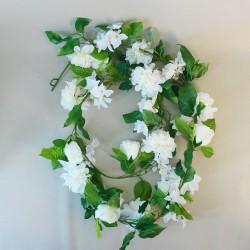 Blossom Zinnia and Rose Garland Cream - B051 B1