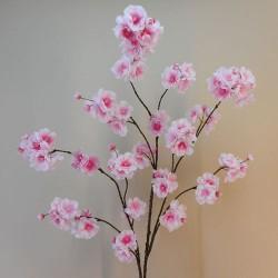 Artificial Peach Blossom Branch Pink 130cm - B007 A1
