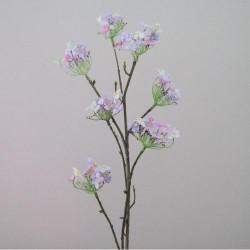 Artificial Tilia Blossom Branch Pink Blue - B025 LL2