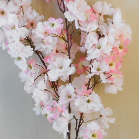 Artificial Cherry Blossom Branch Pale Pink 108 flowers - B031 BB1