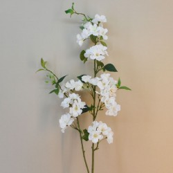 Deluxe Cherry Blossom Branch White 122cm - B016 B1