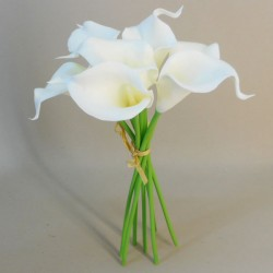 Real Touch Calla Lilies Bundle Ivory - L038 I2