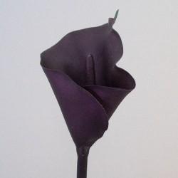 Artificial Calla Lily Aubergine Purple - L149 H1