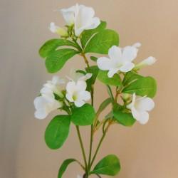 Artificial Bellflowers White 47cm - B033 A3