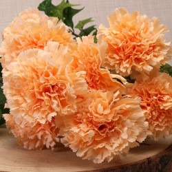 Silk Carnation Bouquet Peach - C002 D4