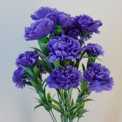 Fleur Artificial Carnations Bunch Purple - C253 EE2