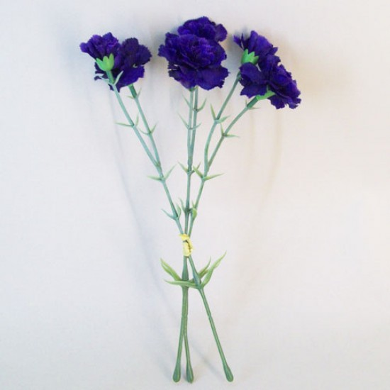 Artificial Carnations Bundle Dark Blue - C032 HH2