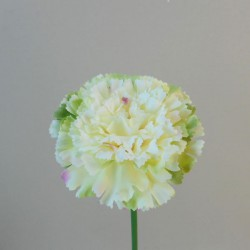 Silk Carnations Cream and Green - C003 A4