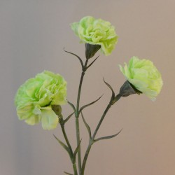 Artificial Spray Carnations Pale Green - C098 D1