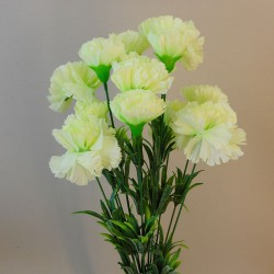 Fleur Artificial Carnations Bunch Green - C255 A3