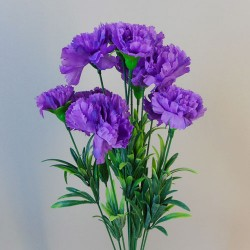 Fleur Artificial Carnations Bunch Purple - C256 A3
