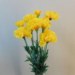 Fleur Artificial Carnations Bunch Yellow - C257 A3