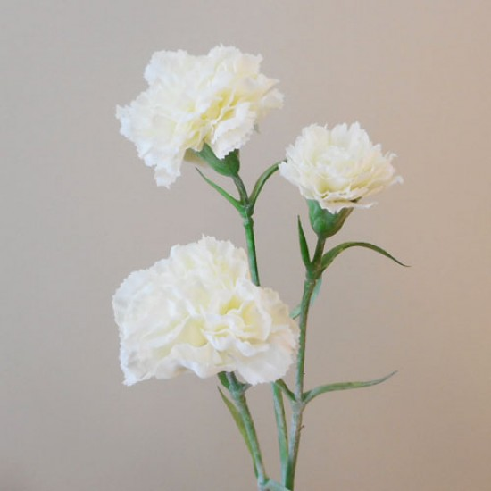 Artificial Spray Carnations Cream - C037 A2