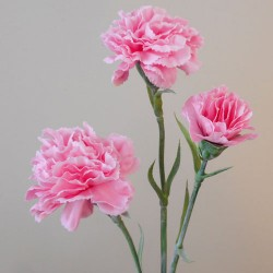 Artificial Spray Carnations Pink - C039 B2