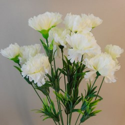 Fleur Artificial Carnations Bunch Cream - C258 A3