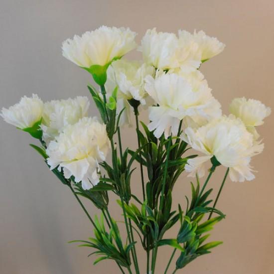 Fleur Artificial Carnations Bunch Cream - C258 A3