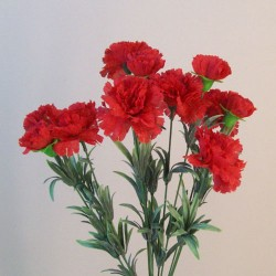 Fleur Artificial Carnations Bunch Red - C004