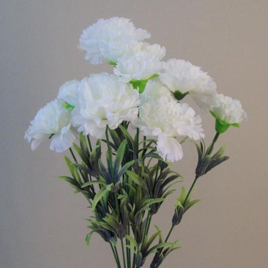 Fleur Artificial Carnations Bunch White - C246 A4