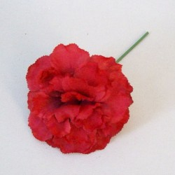 Silk Carnation on Short Wire Stem Red - C234 A3