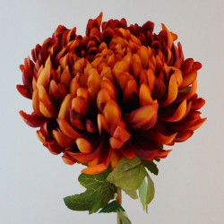 Artificial Bloom Chrysanthemum Dark Orange - C020 B1