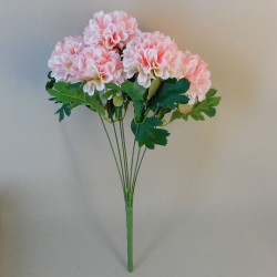 Artificial Ball Chrysanthemum Bunch Pale Pink - C043 A1