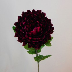 Artificial Chrysanthemums Dark Red 57cm - C175 D3