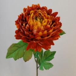 Artificial Chrysanthemums Orange 57cm - C177
