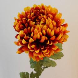 Large Orange Silk Chrysanthemum - C202