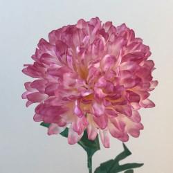 Artificial Pompom Chrysanthemum Dusky Pink - C191 D3