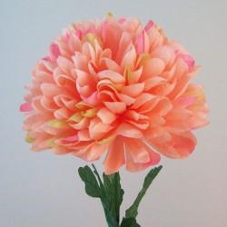 Artificial Pompom Chrysanthemum Peach - C241
