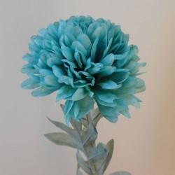 Artificial Pompom Chrysanthemum Teal Blue - C054 D1