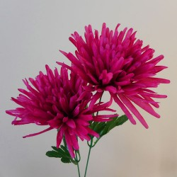 Artificial Spider Chrysanthemums Carnival Hot Pink - S072