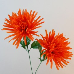 Artificial Spider Chrysanthemums Carnival Orange - S071 Q2