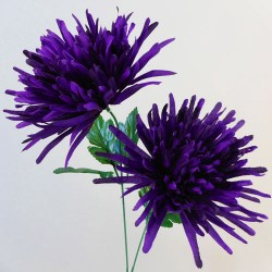 Artificial Spider Chrysanthemums Carnival Purple - S073 Q3