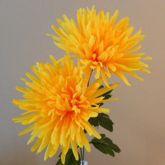 Artificial Spider Chrysanthemums Carnival Yellow - S074 Q2