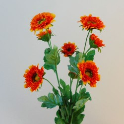 Artificial Spray Chrysanthemums Orange - G006 E3