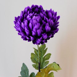 Artificial Flowers Bloom Chrysanthemums Purple - C259 D1
